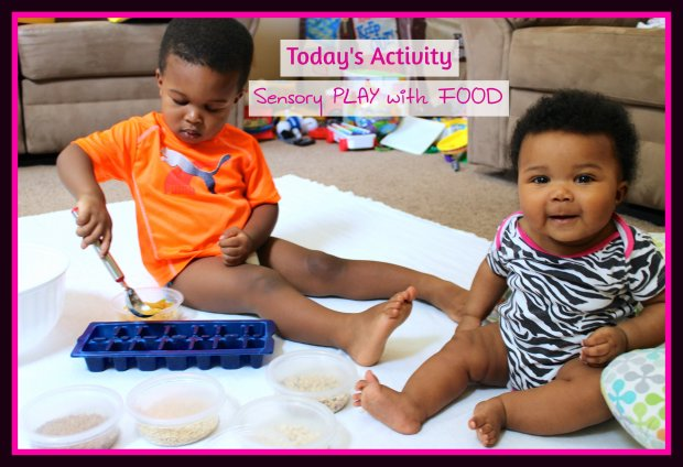 Sensory play with food