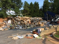 Part of the recycling center. The entire area is more organized than how this picture looks.