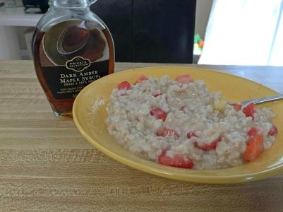 Oatmeal & syrup 1