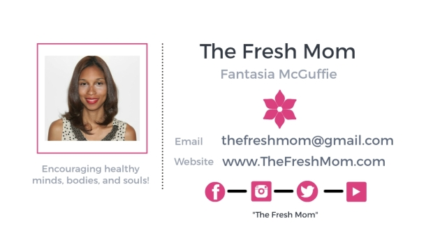 The Fresh Mom - business cards