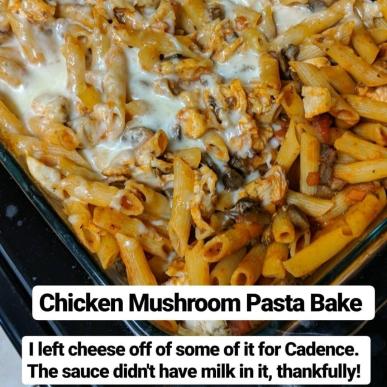 chicken mushroom marinara bake